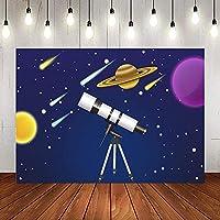 X-スターゲイザー望遠鏡星惑星背景写真9x6FT青宇宙流星発見背景写真ブーススタジオProps1228