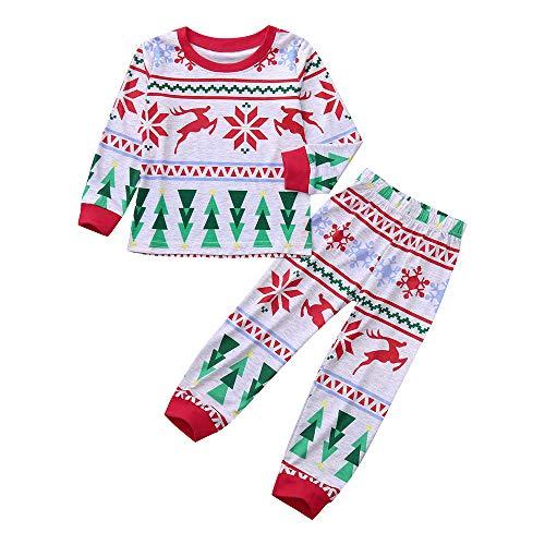 ranrann D/éguisement Ensemble de V/êtement B/éb/é Unisexe No/ël Lutin Costume Barboteuse Chapeau Ray/é Pantalon Infantile Gar/çons Filles Tenue de No/ël Elfe Pyjama B/éb/é 0-12 Mois