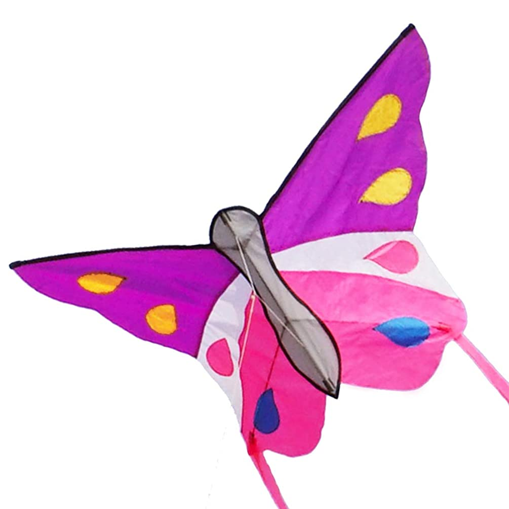 Besra Huge Butterfly Kite Single Line Easy to Fly Insect Nylon Kite with Handle & Strings for Kids & Adults