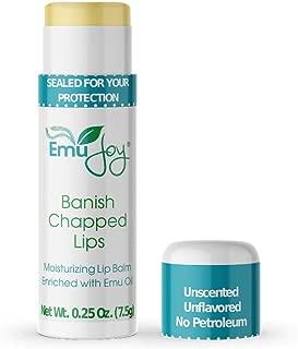 Banish Chapped Lips Emu Oil Lip Balm for Severe Dry Lips Jumbo Tube