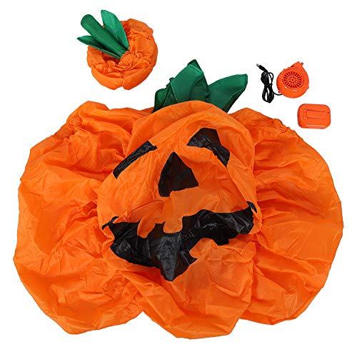 01 Disfraz Inflable, Divertido Disfraz de Cosplay de Halloween Accesorios de Halloween Ropa Inflable de Halloween, Disfraz Inflable de Dibujos Animados Lindo(Pumpkin X122)