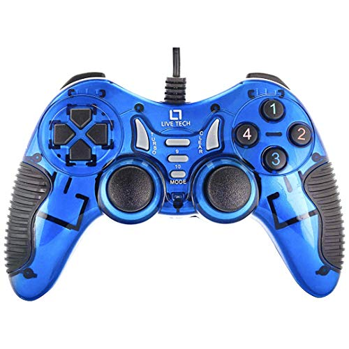 Live Tech Turbo Double Vibration Gamepad (Blue)