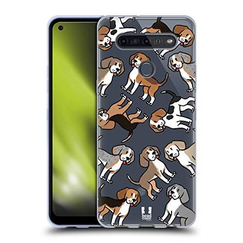 Head Hülle Designs Beagle H&erasse Muster Soft Gel Handyhülle Hülle kompatibel mit LG K51S