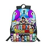 GuiSoHn Mochila de Lona para Cosplay Dragon Ball Super Z Saiyan Sun Goku Vegeta Escolar Estudiante...