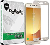 PThink [Full Screen Coverage Tempered Glass Screen Protector for Samsung Galaxy J5 Pro J530G (2017) (Gold)