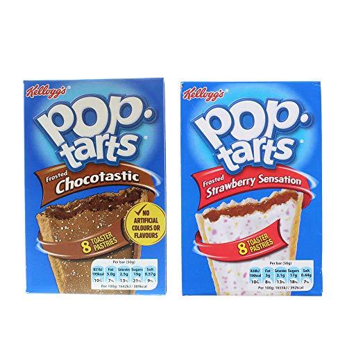Pop Tarts: Strawberry Sensation (8 x 50 g) & Chocotastic (8 x 50 g) (2 Stück)