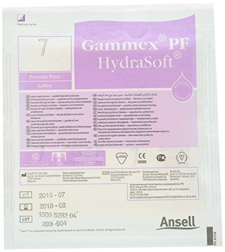 GAMMEX aj352684HydraSoft PF Latex Handschuh Gr. 7,0(40Stück)