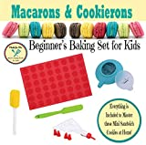 Macarons & Cookierons - Beginner's Baking Gift Set for Children with Online Virtual Class Tutorials!! - from the makers of Pancake Party Art Kits & Beginner's Kids Chef Knife! Macaroons Kid's Baking