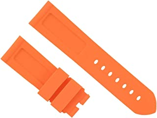 24MM Rubber Diver Strap Band for PAM PANERAI LUMINOR RADIOMIR Marina Orange