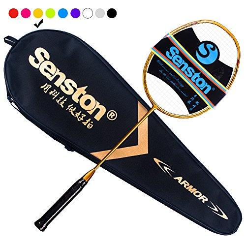 Senston N80 Ultra-Lict 100%GraphitBadmintonschläger Carbon Badmintonschläger mitSchlägertasche-9Farbe