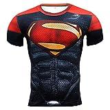 メンズ Tシャツ半袖 スーパーヒーローHeroman 吸汗速乾 コンプレッションウェア パワーストレッチ アンダーウェア