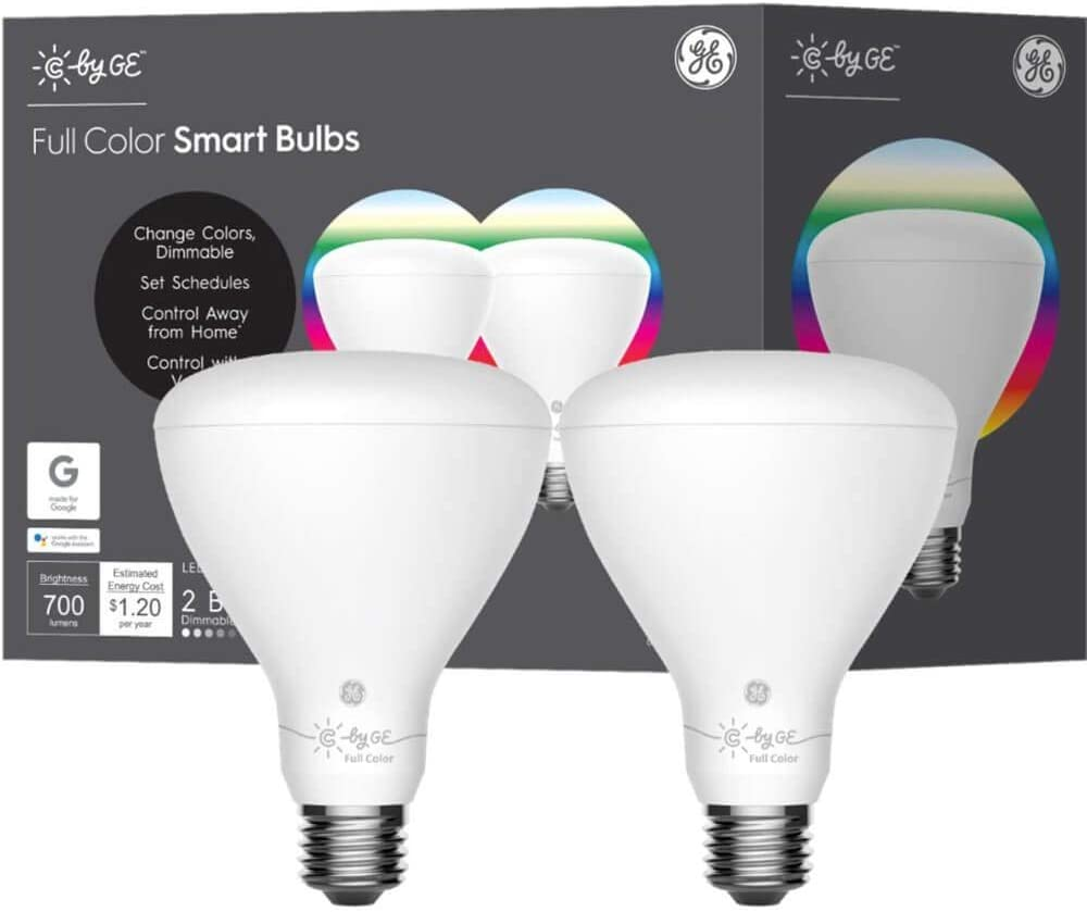 C by G.E. GE 93106175 BR30 Directly managed Max 86% OFF store Bluetooth Light Bulb 2 LED Pk. Smart