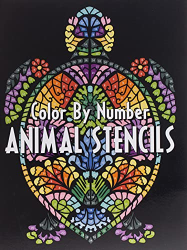 ANIMAL STENCILS Color By Number: Activity Coloring Book for Adults Relaxation and Stress Relief
