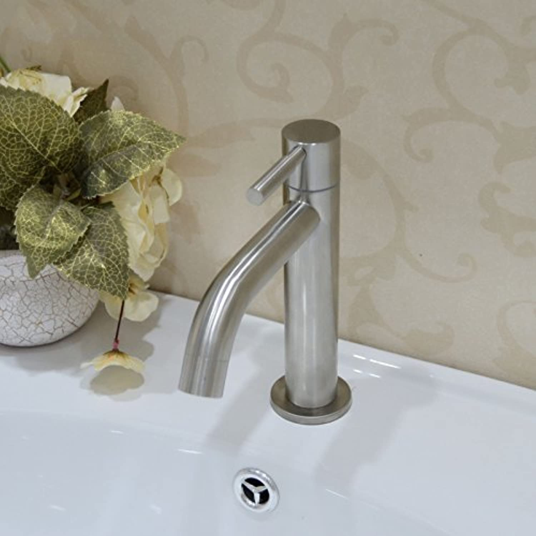 (wasserhahn mit einheitlichen loch draht aus nichtrostendem stahl von bleifreien klick becken wasserhahn aufgedreht