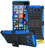 FoneExpert Microsoft Lumia 950 - Etui Housse Coque ShockProof Robuste Impact Armure Hybride Béquille Cover pour Microsoft Lumia...