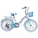 Vélo pour Enfants VTT Pliant 18 Pouces / 20 Pouces / 22 Pouces De Changement De Vitesse De Bicyclette Convient Aux Filles De 8 À 14 Ans