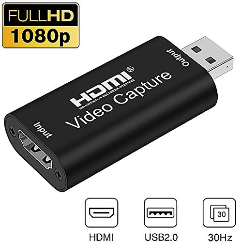 Hdmi Video Capture Card USB 2.0 1080P Aufnahmegerät USB, Game Capture Card USB, Game Capture, 4K Display Port auf HDMI Adapter, Aufnehmen Und Teilen, Low Latency Technologie USB