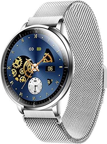 Reloj inteligente táctil completo con monitor de frecuencia cardíaca, contador de pasos, monitor de sueño, IP68, resistente al agua, compatible con teléfonos iPhone Android