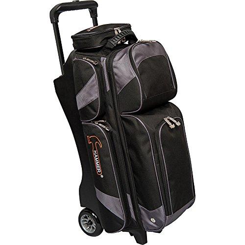 Hammer Premium Triple Roller Bowling Bag, Black/Carbon