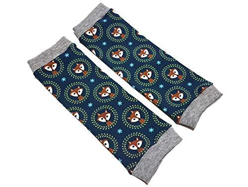 Stulpen - Füchse dunkelblau - Beinstulpen für Babys und Kinder - 4 Größen verfügbar - Handmade - Kinderstulpen und Babystulpen für Jungen und Mädchen