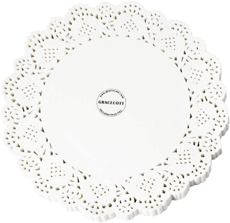 Lace Paper Reservation Doilies 100 White Round Credence Pieces Placemats