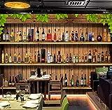 FHOMEY Papier peint intissé 3D Photo Papier Peint Moderne 3D Stéréoscopique Cave À Vin Bar À Bouteilles De Vin Restaurant Cave Décoration Murale Affiche Murale Papier Peint-400 * 280 Cm