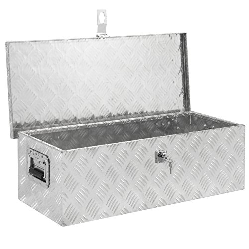 Best Choice Products 30in Lockable Aluminum Tool Box w/Lock and 2 Keys