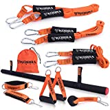 Kobra Tech Resistance Bands Set for Men & Women - The Ultimate Premium Full Body Workout Exercise Kit, Home Gym Equipment for Stretch, Strength Training, Physical Therapy, Fitness, Sports, & Outdoors