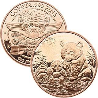 1 oz .999 Pure Copper Round/Challenge Coin (2012 Panda)