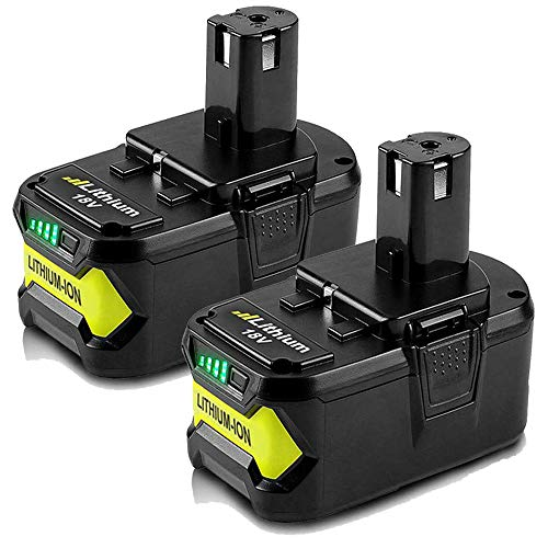 2 Pack 18V 5.0Ah Max Lithium-ion Replacement Battery for 18