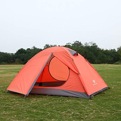Mdsfe Outdoor tent professional hand with ultra-light 3-4 people double deck windproof waterproof camping tent-Red