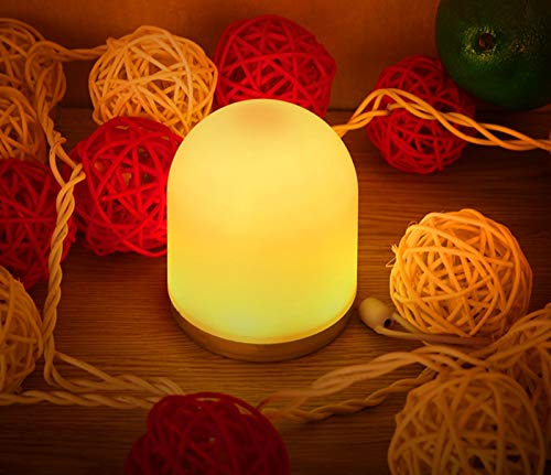 KUCE Luz Nocturna para Niños, Lámpara de Noche LED RGB con USB Recargable, Control Remoto y Cordón, Lámpara de Guardería Portátil Regulable con Cambio de Color, para Niños, Dormitorio, Camping