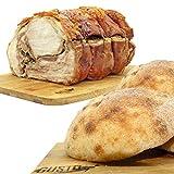 Porchetta di Ariccia IGP 2 kg + 8 Panini Artigianali Gourmet ad Alta Digeribilità
