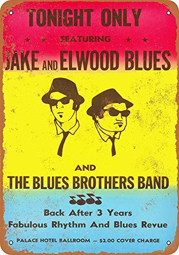 Supsum The Blues Brothers Band Retro-Mode-Wand-Dekor-Hauptkunst-Plakat anwendbar auf Garage Bar Restaurant