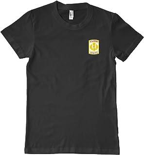 US Army JROTC Crest Military T-Shirt 100% Cotton Black