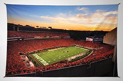 UGA Georgia Bulldogs: Photo Poster Tapestry Print - Sanford Stadium Redout - XXL: 40'x60'