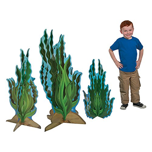 Seaweed Cardboard Stand Ups - Set of 3 - Under the Sea Party Decor