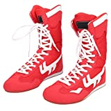 Dilwe Chaussures de Boxe, Chaussures de Boxe Montantes à la Cheville Chaussures d'entraînement de Taekwondo Sanda pour Les...