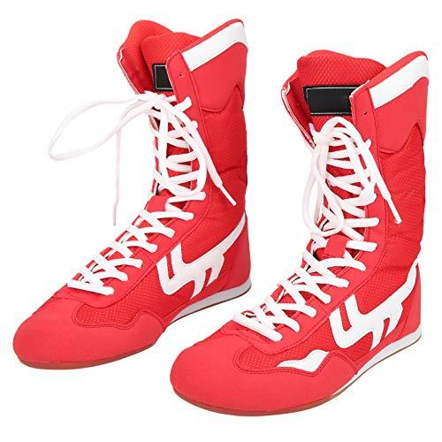 Dilwe Calzado de Boxeo, Tobillo Alto Calzado de Boxeo Artes Marciales Taekwondo...