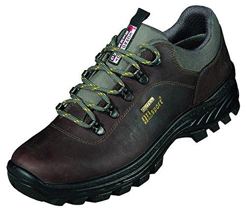 Grisport Wander-Trekking Fettleder, herausnehmbares Fußbett, Gri Tex, PU-Sohle in dunkelbraun, Größ
