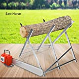 Supporto per Legna, Cavalletto legna per motosega cavalletto taglio, Cavalletto taglialegna Pieghevole, in ferro e placcatura di zinco, portata massima 150 kg, 84 * 80 * 80cm