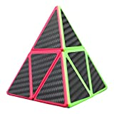 Willking Pyramid Cube Carbon Fiber Pyraminx Speed Cube 2x2 Triangle Cube Twisty Puzzle Toy for Kids' Intelligence Development