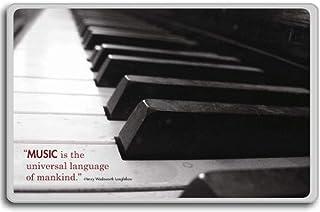 ヘンリー・Wロングフェロー - - 音楽は人類の普遍的な言語であるモチベーションの引用冷蔵庫用マグネット