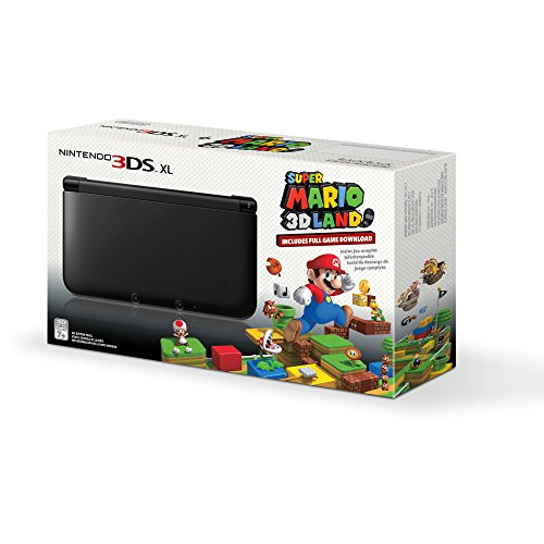 Nintendo 3DS XL - Console portatile con Super Mario 3D Land, colore: Nero