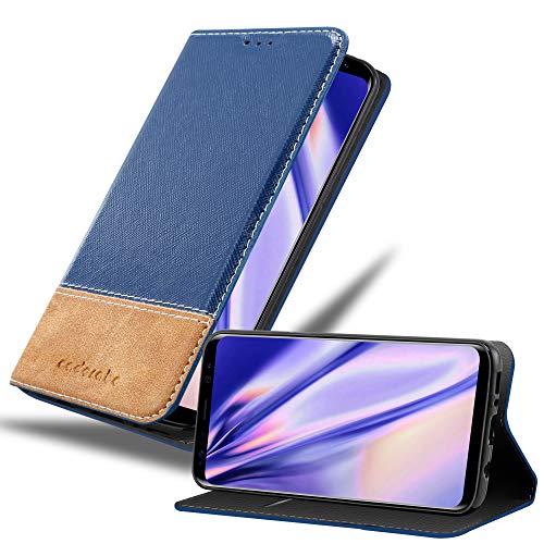 Cadorabo Funda Libro para Samsung Galaxy S8 Plus en Azul MARRÓN – Cubierta Proteccíon con Cierre Magnético, Tarjetero y Función de Suporte – Etui Case Cover Carcasa