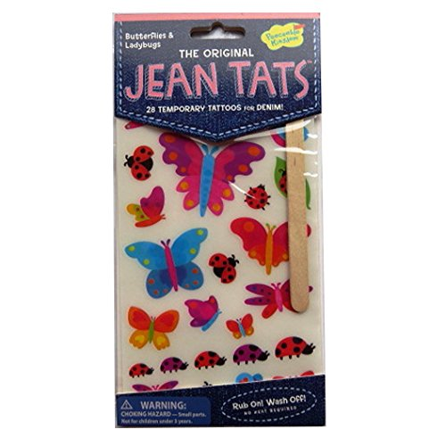 Peaceable Kingdom L'original Jean / Denim / Tissu Tatouages - Papillons et Coccinelles