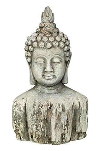 Vagabond Vintage, Cement Buddha Bust Statue