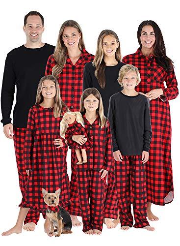 SleepytimePJs Matching Family Christmas Pajama Sets, Buffalo Plaid Flannel- Men's Lounge Set, 2X