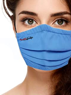 Healthgenie FM 201 Washable & Reusable Double Layered, Triple Pleated Cloth Face Mask - Large, Assorted Color (Pack of 3)