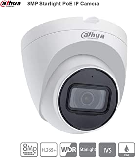 Dahua 8MP PoE Dome Camera - IPC-HDW2831T-AS-S2 2.8mm Lens WDR IR Eyeball Security Network Camera 98ft IR Night Vision Built-in Mic H.265 IP67 Weatherproof